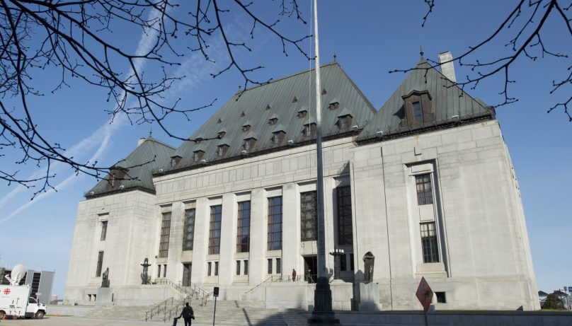 L'édifice de la Cour suprême du Canada à Ottawa. - Archives