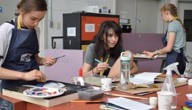 Le 12 juillet 2017. De jeunes artistes en création aux Jeux de la francophonie canadienne. Acadie Nouvelle: Sylvie Mousseau