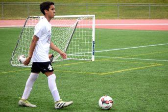 Au soccer mixte, la délégation du Nouveau-Brunswick a terminé sa première journée d'activité avec une fiche d'une victoire et une défaite. - Acadie Nouvelle: Steve Lebel