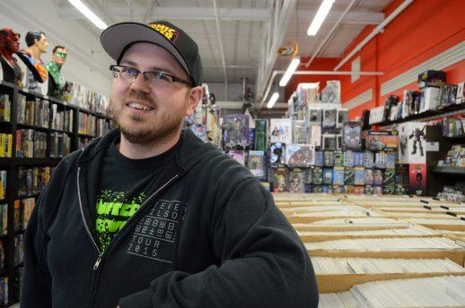 Le gérant du Comic Hunter de Moncton, Rémi Vienneau LeClair. - Acadie Nouvelle: Pascal Raiche-Nogue