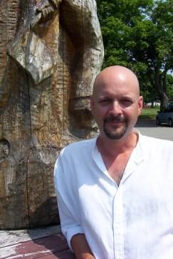 Denis Richard, en juillet 2005, l'été du méga-spectacle Les défricheurs d'eau, pour lequel il avait composé la musique. - Archives