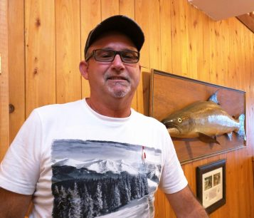 Kevin Shaw du groupe Miramichi Headwaters Salmon Federation. - Acadie Nouvelle : David Caron
