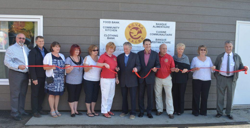 Bien que fonctionnelle depuis deux ans, la banque alimentaire de Dalhousie n'a été inaugurée officiellement que ce vendredi. - Acadie Nouvelle: Jean-François Boisvert