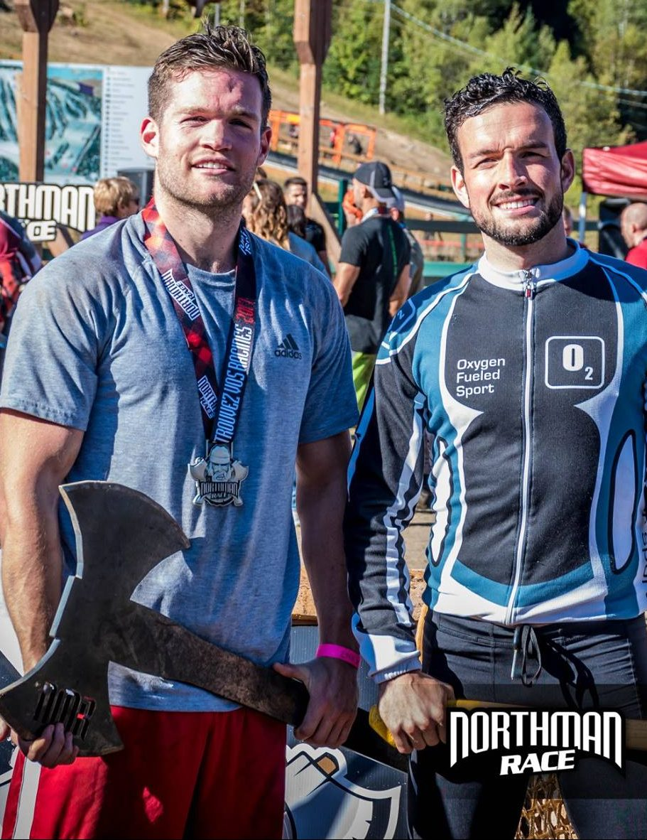 Joey Kerwin et Olivier Babineau étaient tout sourire à la fin du Northman Race de Val-Morin. - Gracieuseté