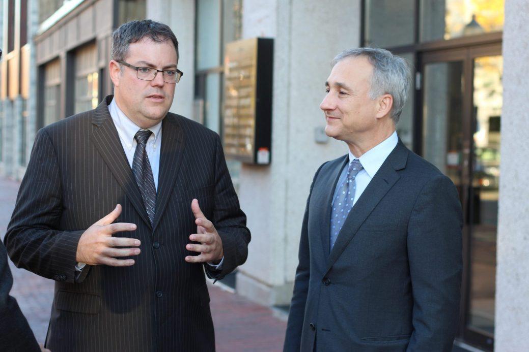 Benoit Bourque (à gauche) et Bernard Lord - Archives