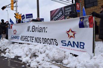 La SANB avait mis un autobus à la disposition des résidents de la Péninsule acadienne pour se rendre à Dieppe. - Acadie Nouvelle: Simon Delattre