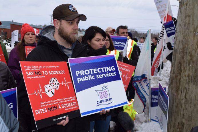 Le Syndicat canadien de la fonction publique s'oppose aux projets de privatisation de la province. - Acadie Nouvelle: Simon Delattre