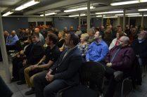 Des dizaines de personnes ont assisté au dévoilement officiel des plans du nouveau centre Kent-Nord de Richibucto, jeudi. - Acadie Nouvelle: Jean-Marc Doiron