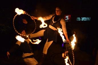 Le collectif Incendia Motus a offert une prestation à la Place Assomption. Acadie Nouvelle: Sylvie Mousseau