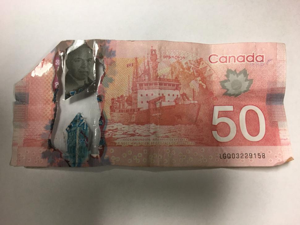 Depuis le 5 mars, la police a reçu huit plaintes concernant de faux billets de banque canadiens de 50$ qui ont été utilisés dans des restaurants et des dépanneurs de Moncton et de Dieppe. - Gracieuseté
