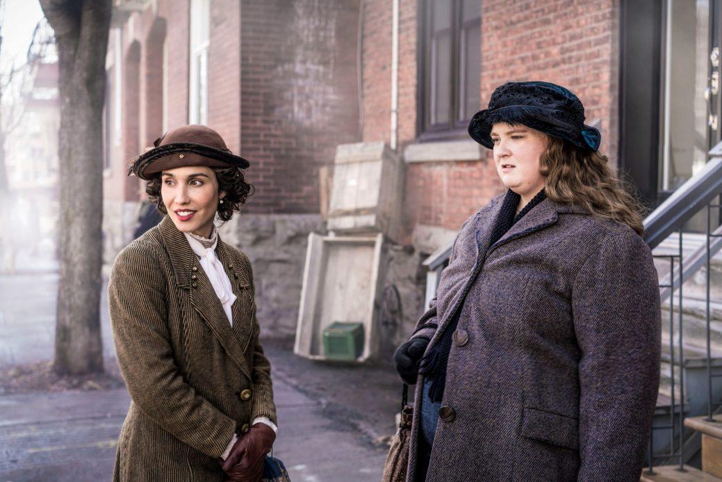 Le 29 mars 2018. Debbie Lynch-White (La Bolduc) et Bianca Gervais dans le film La Bolduc. Gracieuseté.