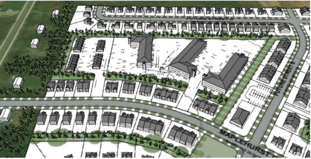 Un esquisse de ce à quoi le futur quartier de Mountain Way Developents pourrait ressembler. - Gracieuseté