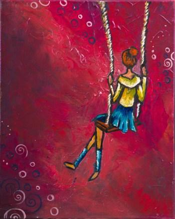 Une des oeuvres de Janic Losier de la collection Les p'tits bonheurs de ma vie. - Gracieuseté