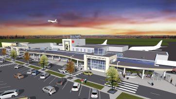 1er mai 2018. Gracieuseté. L'Aéroport international de Fredericton audra droit à une cure de rajeunissement de 30 millions $.