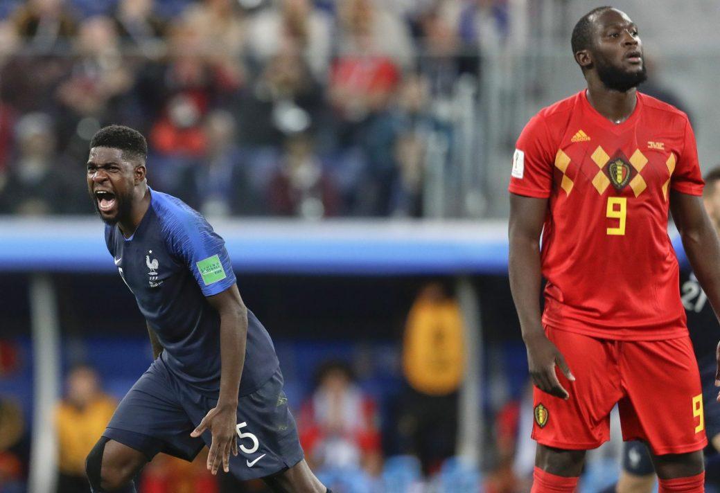 Samuel Umtiti a marqué le seul but de la rencontre. (AP Photo/Petr David Josek)