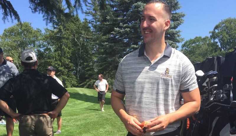 Le nouvel entraîneur du Titan d'Acadie-Bathurst, Bryan Lizotte. - Acadie Nouvelle: Robert Lagacé