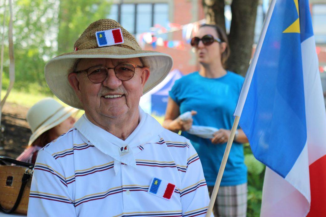 Roger Landry se réjouit de voir ce qu'est devenu le 15 août à Moncton. - Acadie Nouvelle: Simon Delattre