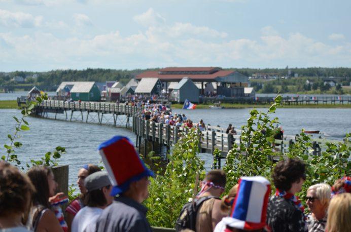 Bouctouche, 15 août 2018 - Des milliers d'Acadiens et d'Acadiennes ont participé au tintamarre de Bouctouche, mercredi après-midi. Acadie Nouvelle: Jean-Marc Doiron