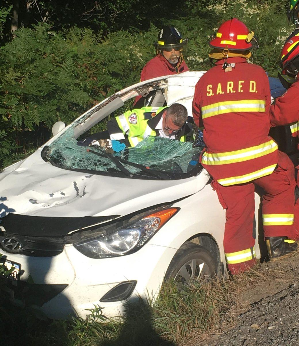 La voiture accidentée de Jessica Vienneau. - Gracieuseté