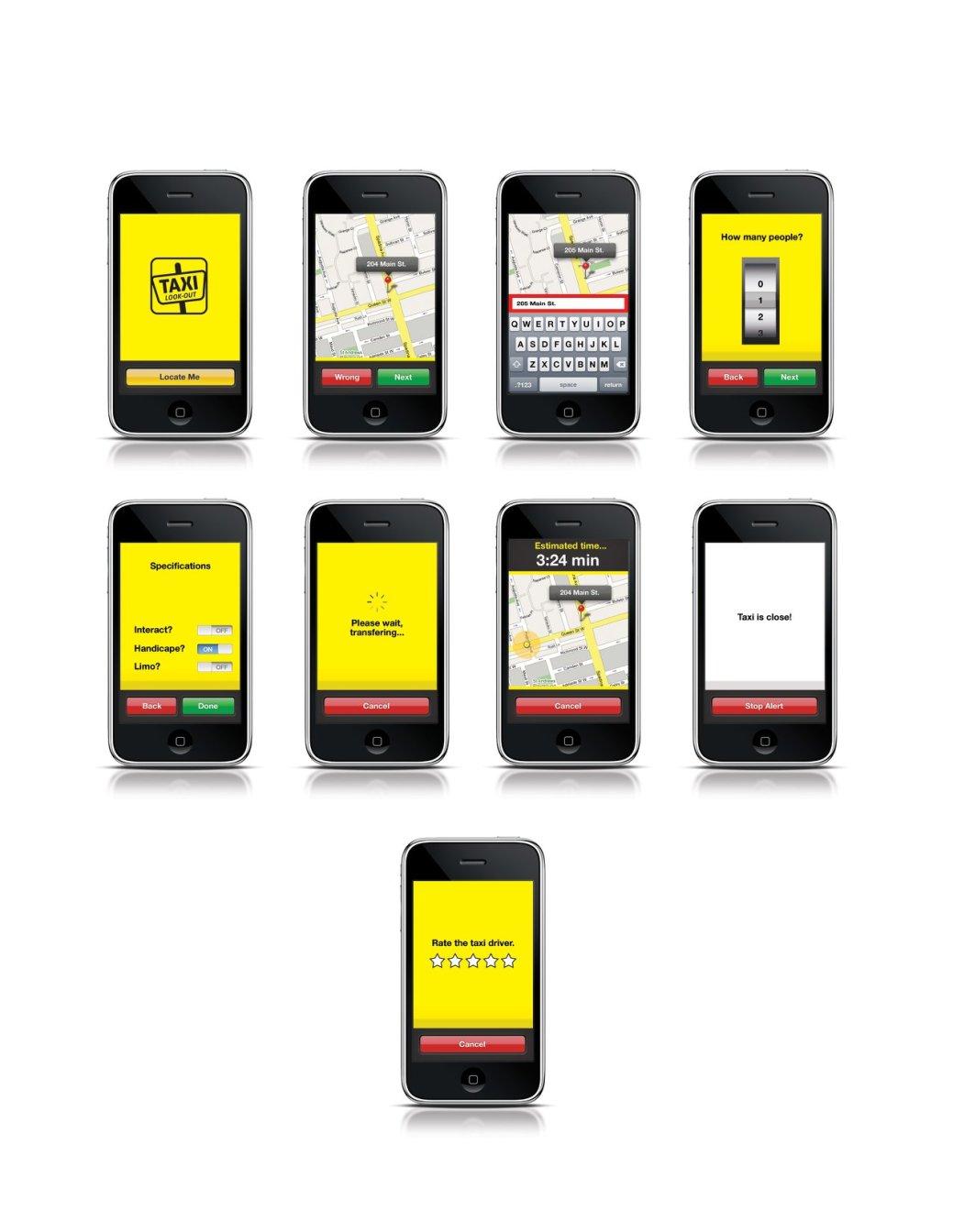 Le concept de Taxi Look-Out créé par Frédéric Laforge en 2010. - Gracieuseté