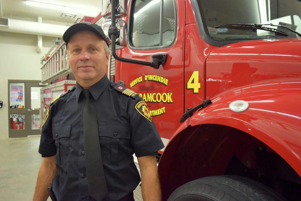 Le chef pompier Gérald Boudreau assure que l'intervention rapide de son équipe a permis de sauver plus d'un citoyen à Memramcook. - Acadie Nouvelle: Simon Delattre