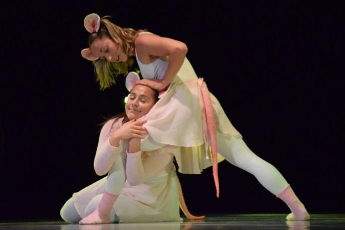 Chantal Baudouin et Roxanne Dupuis dans une scène du spectacle Respire par le nez de DansEncorps. Acadie Nouvelle: Sylvie Mousseau.