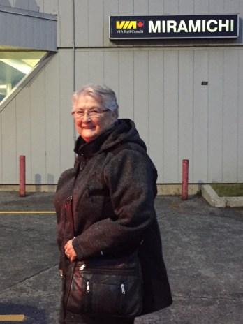 Irma Richard a pris le train, en octobre, afin de passer deux semaines avec son amoureux, Gilles Lefebvre. Elle retourne le voir pour le temps des fêtes. - Gracieuseté