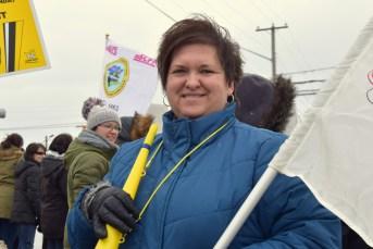 Janice Melanson, infirmière auxiliaire au foyer La Villa du Repos de Moncton. - Acadie Nouvelle: Pascal Raiche-Nogue