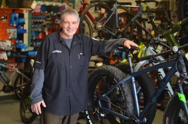 Jim Goguen, propriétaire de My Bike Shop à Moncton, travaille afin de mousser l'intérêt pour le fatbike dans la grande région. - Acadie Nouvelle: Jean-Marc Doiron