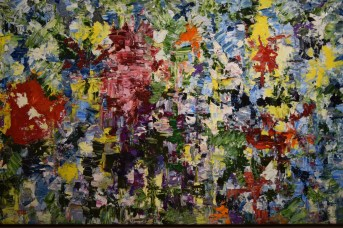 Une des toiles de la série Contraste de Louise LeBlanc. - Acadie Nouvelle: Sylvie Mousseau