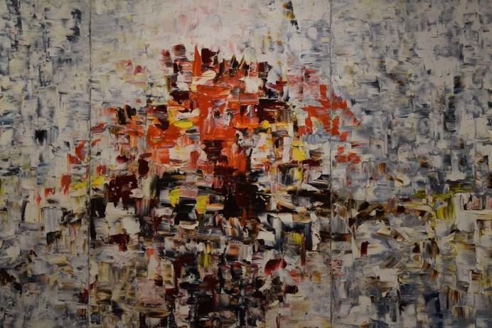 Un tableau de la série Contraste de Louise LeBlanc exposée à la Galerie 12. - Acadie Nouvelle: Sylvie Mousseau