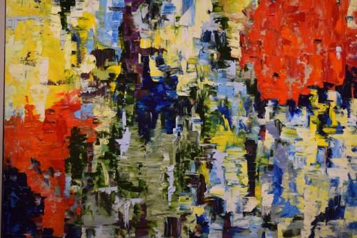 Un des tableaux de la série Constraste de Louise LeBlanc, exposée à la Galerie 12. - Acadie Nouvelle: Sylvie Mousseau