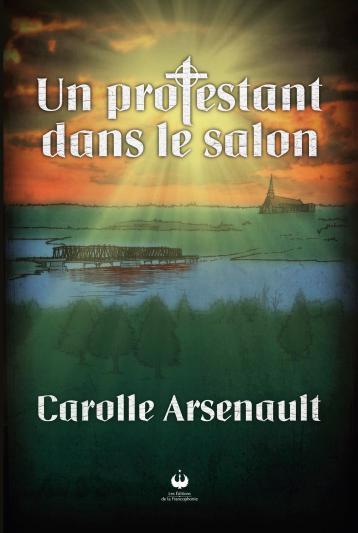 Un protestant dans le salon de Carolle Arsenault. Gracieuseté.