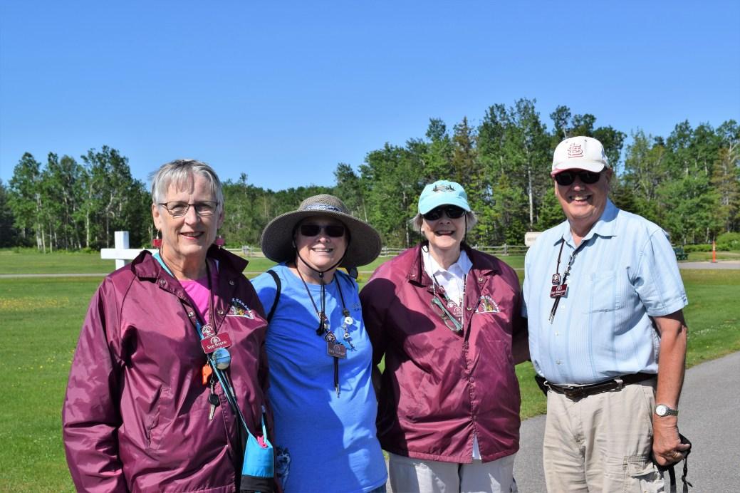 De gauche à droite : Sue Boone et Sally Tazelaar, de la Floride ainsi que Lynette et Bob Williamson, de Cape Girardeau, au Missouri. - Acadie Nouvelle: David Caron.