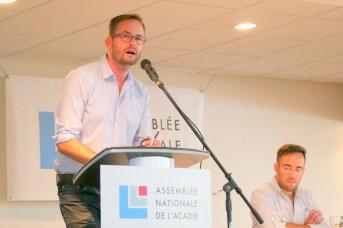 Christophe Traisnel estime que l'Acadie manque cruellement d'un espace de délibération politique. - Acadie Nouvelle: Simon Delattre