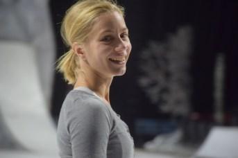 La patineuse Silja Dos Reis incarne le rôle-titre du spectacle Crystal. - Acadie Nouvelle: Sylvie Mousseau