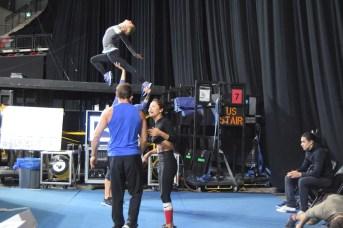Les artistes du spectacle Crystal du Cirque du Soleil s'entraînent en vue de la première. - Acadie Nouvelle: Sylvie Mousseau