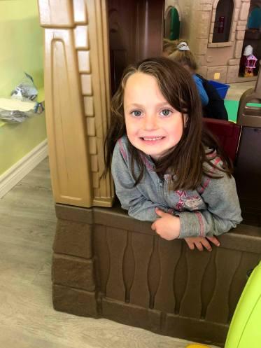 Grace Hickey, 6 ans, dans le nouveau parc. - Gracieuseté