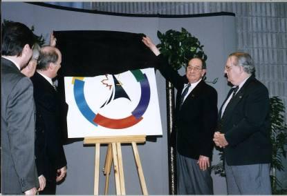Dévoilement du logo du Sommet de la Francophonie. - Archives
