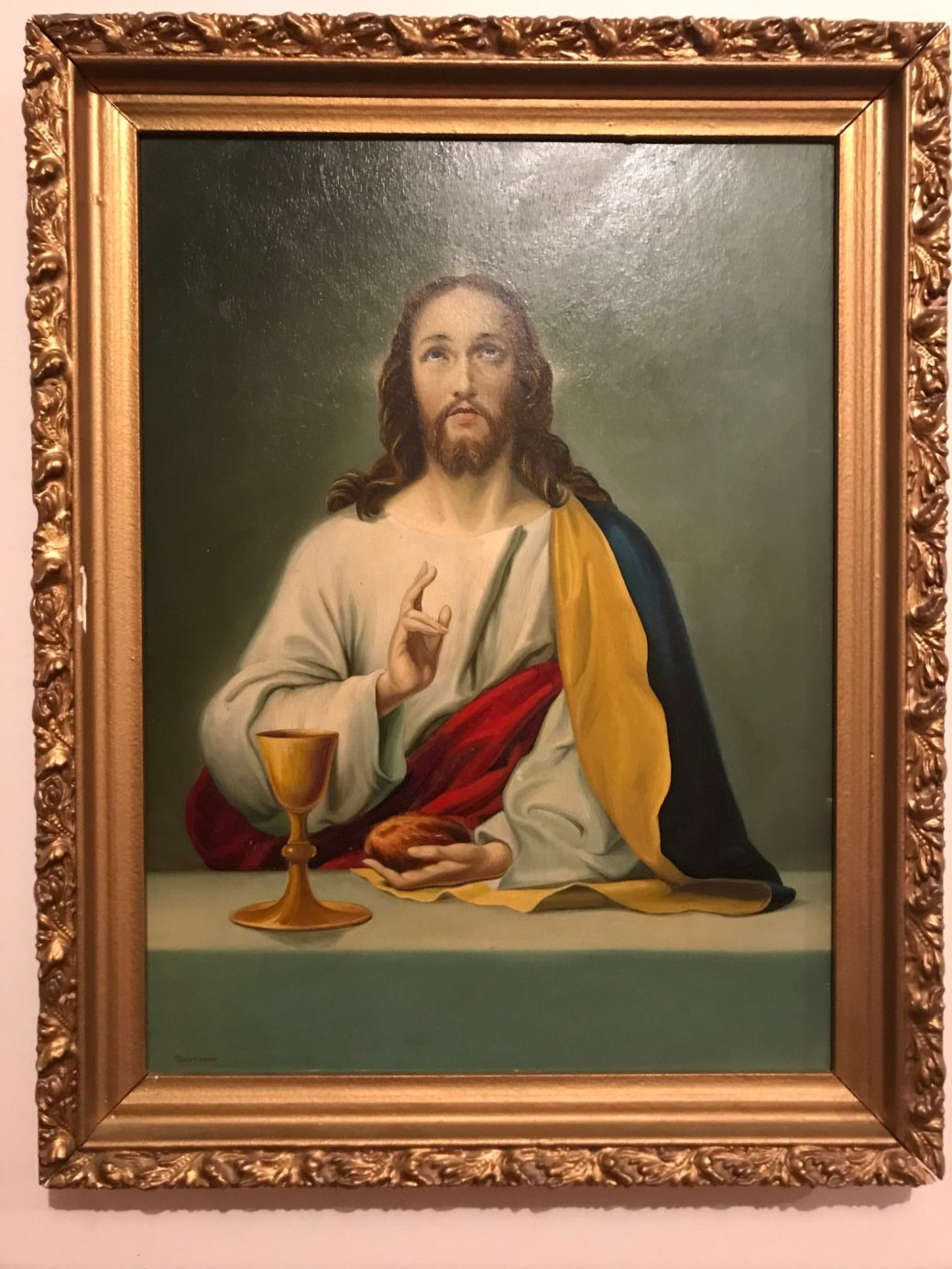 Ce tableau d'Édouard Gautreau, Jésus au dernier repas, fait partie de la collection Cormier. - Gracieuseté: Nation Prospère Acadie