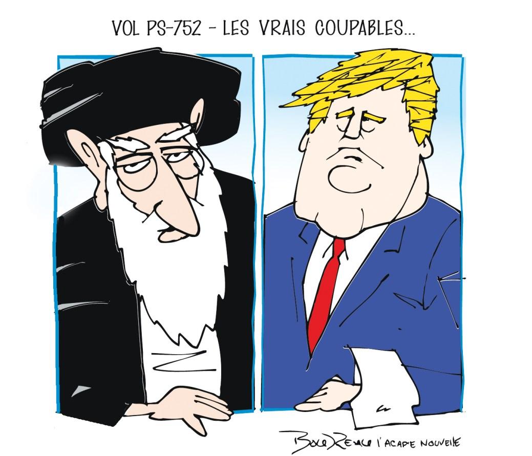 Caricature, 21 janvier 2020