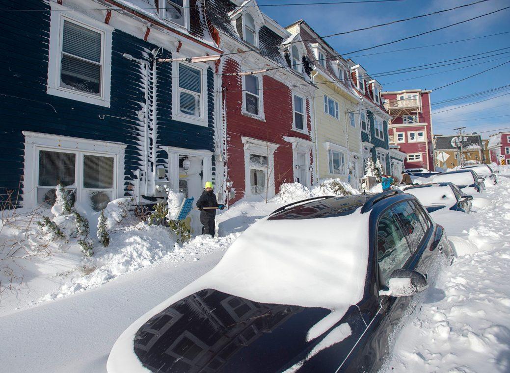 La ville de Saint-Jean est paralysée dimanche matin. - PC