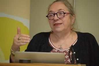 La directrice du CPSC, Marie-Thérèse Landry, a dévoilé les détails de la tournée littéraire les Mots qui tournent et des Écrans baladeurs. - Acadie Nouvelle: Sylvie Mousseau
