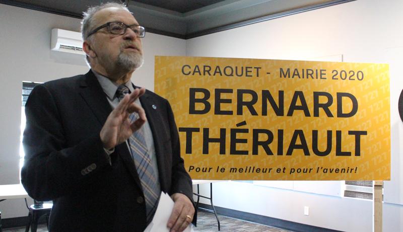 Bernard Thériault briguera la mairie de Caraquet aux élections municipales du 11 mai. - Acadie Nouvelle: Réal Fradette