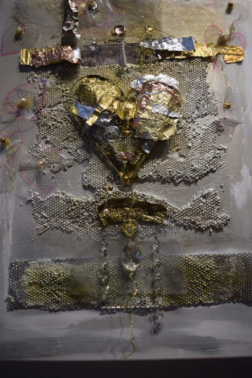 Une oeuvre de Suzanne Albert de l'exposition Vignettes. Acadie Nouvelle: Sylvie Mousseau