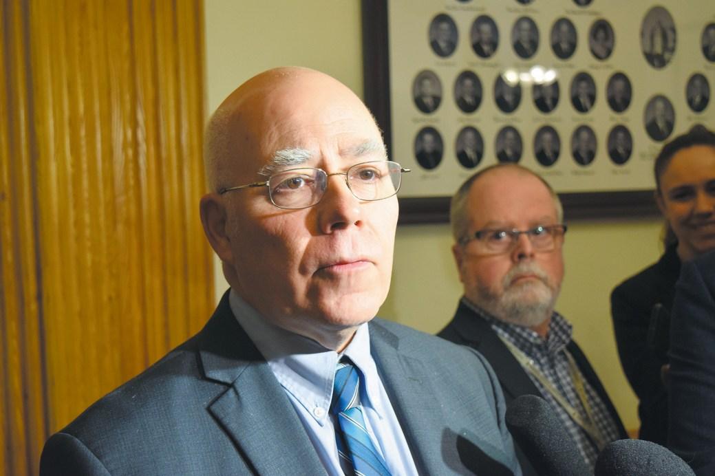 Le chef du Parti vert, David Coon. - Acadie Nouvelle: Mathieu Roy-Comeau