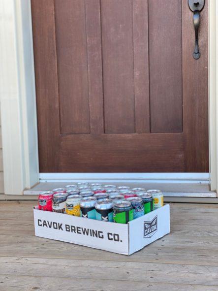 La microbrasserie CAVOK a récemment commencé à offrir la livraison à ses clients de la région de Moncton. - Gracieuseté