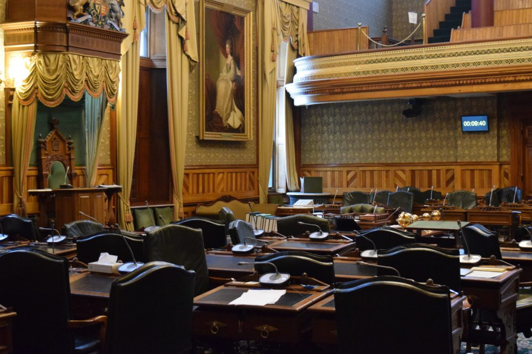 L'Assemblée législative du Nouveau-Brunswick à Fredericton. - Archives