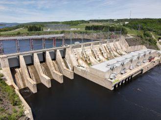 L'imposant barrage de Mactaquac. - Acadie Nouvelle: Simon Delattre