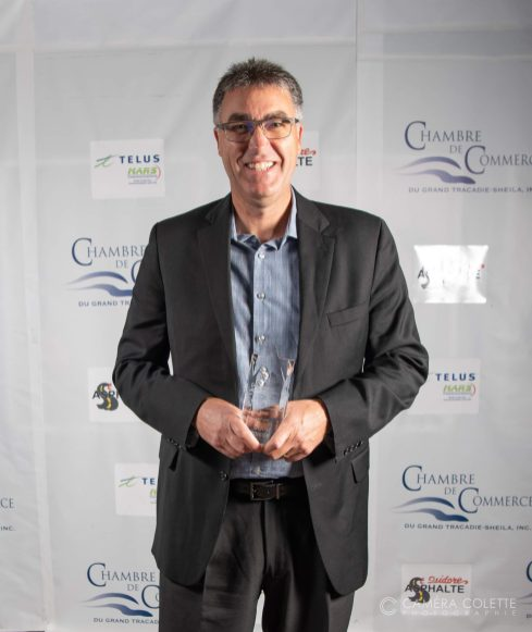 Denis Poirier, DG des Brasseux de la Côte, lauréat du prix Employé du 11e Gala Excellence de la Chambre de commerce du Grand Tracadie-Sheila. - Gracieuseté
